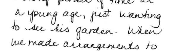 A client just wanting to see his garden